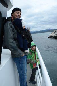 Mit einem kleineren Boot zur Tierbeobachtung vor Ushuaia