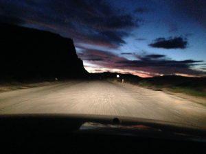 Nachtfahrt quer durch Argentinien