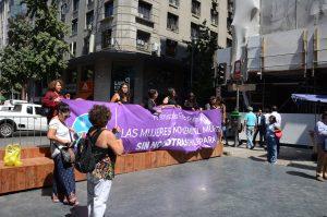 Frauentagsbewegung in Santiago de Chile
