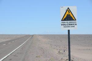 Der Vulkan hat schon deutliche Spuren hinterlassen.