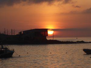 Auch das gemeinsame Anschauen des Sonnenuntergangs stand oft auf der Tagesordnung